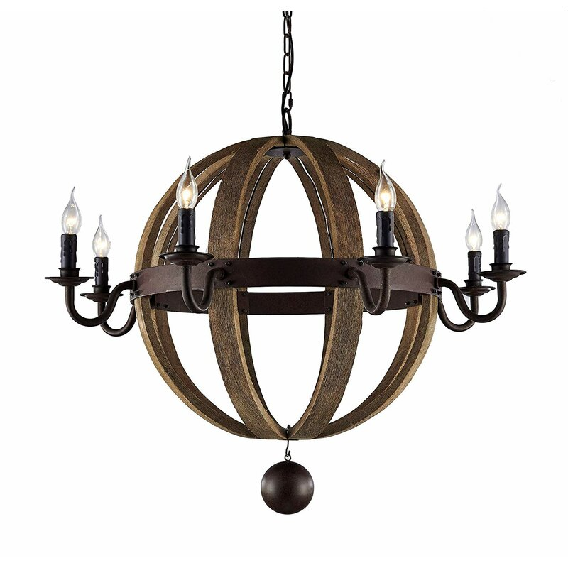 Light Candle Style Globe Chandelier