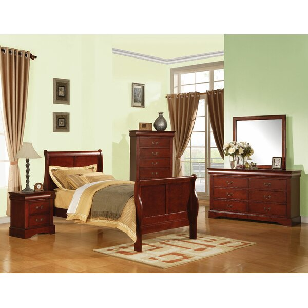 Jeffery Sleigh Bed by Darby Home Co