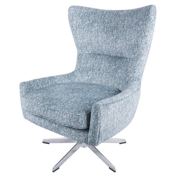 Jamie Swivel Wingback Chair by Modern Rustic Interiors