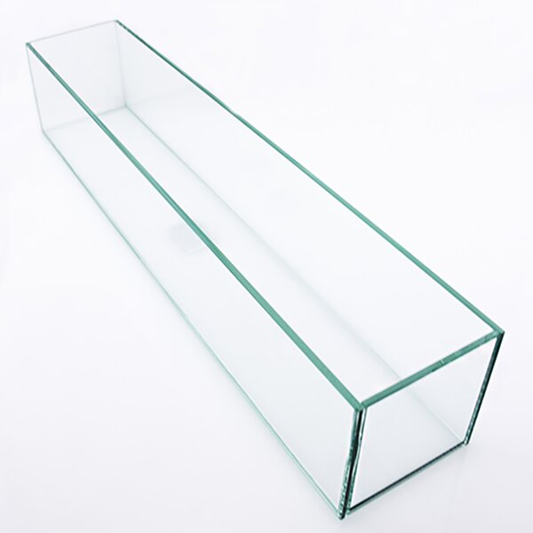 Rectangle Floor Glass Pot Planter by Vasesource
