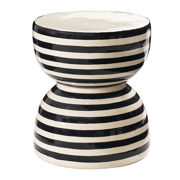 Time  Ceramic Side Table by Seasonal Living