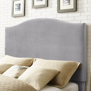 Sylwia Camelback Upholstered Fabric Panel Headboard by Gracie Oaks