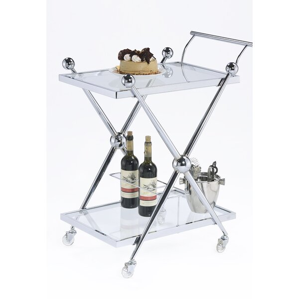 Rolling Glass Bar Cart By Design Guild New
