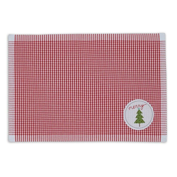 Merry Xmas Tree Embellished Placemat (Set of 6) by Design Imports