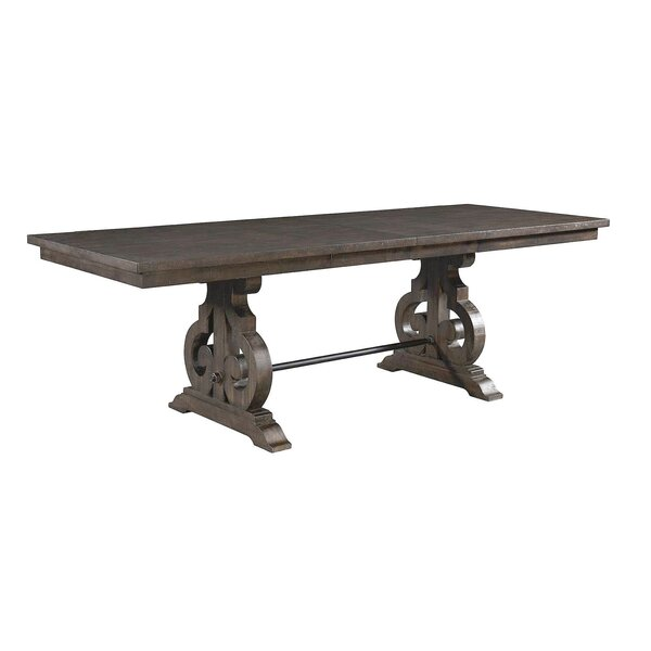 Kenworthy Counter Height Extendable Dining Table by Three Posts
