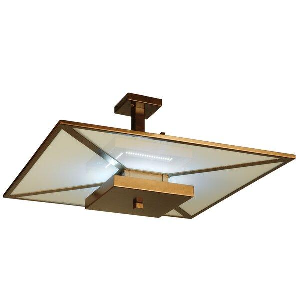 Lantern Rectagle / Square LED Chandelier by Meyda Tiffany Meyda Tiffany