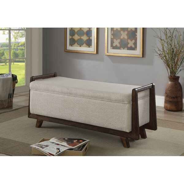 Creissant Upholstered Storage Bench by World Menagerie