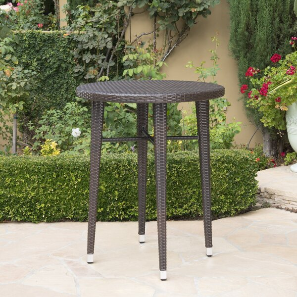 Hartwick Wicker/Rattan Bar Table by Alcott Hill