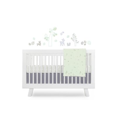 Monochrome Nursery Crib Bedding Set