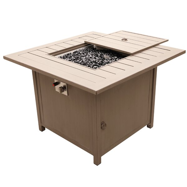 Otega Outdoor Propane Gas Firepit Table by Orren Ellis