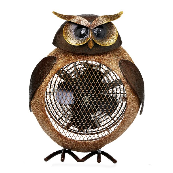 Esmont Owl Figurine 4 Table Fan by August Grove