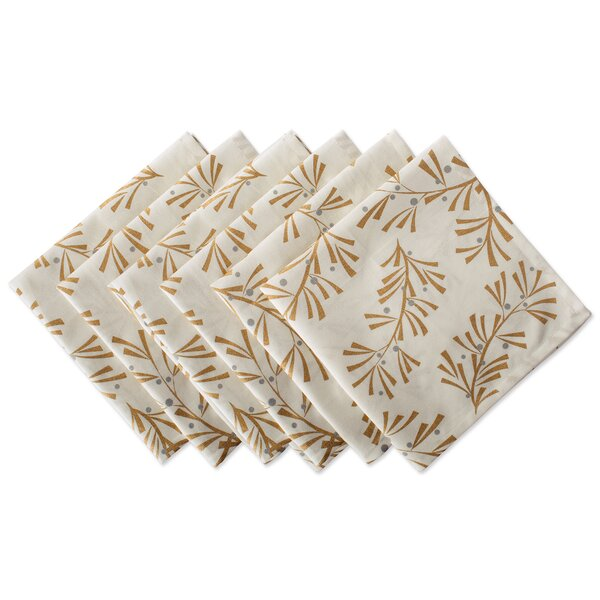 Mcmanis Metallic Leaves 20 Napkin (Set of 6) by The Holiday Aisle