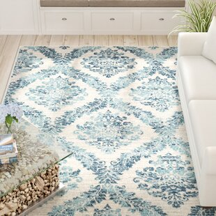Inexpensive Delana Traditional Faded Oriental Dark Blue/Teal Area Rug By Beachcrest Home