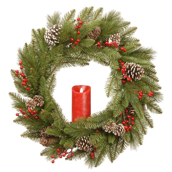 Bristle Berry 24 Wreath by The Holiday Aisle