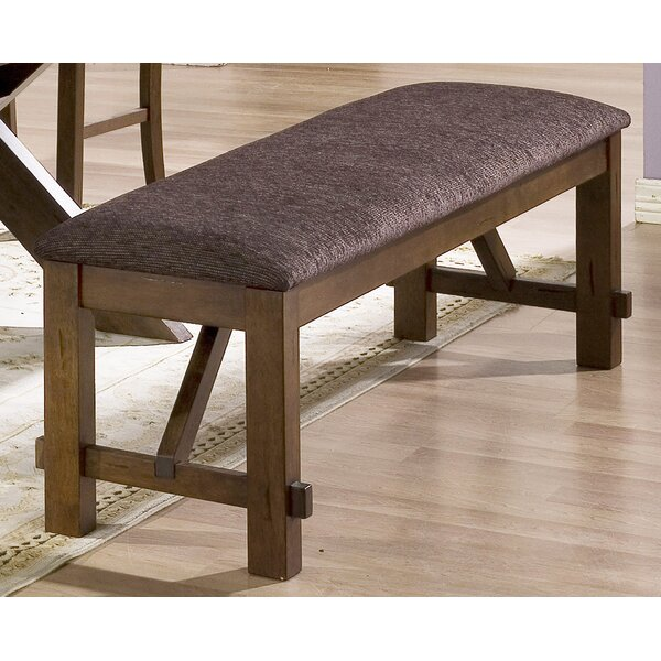 Ellsworth Faux Leather Bench by Millwood Pines