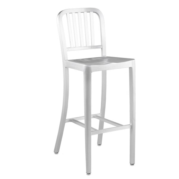 Cerrone 30 Cafe-B Aluminum Patio Bar Stool by Brayden Studio