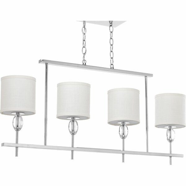 Status 4 Light Drum Chandelier by Progress Lighting