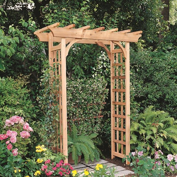 Cedar Rosedale Wood Arbor by Rustic Natural Cedar Furniture