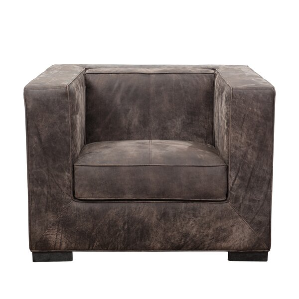 Philip Distressed Shelter Armchair by 17 Stories