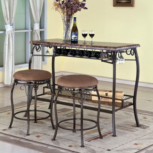 3 Piece Pub Table Set by Hazelwood Home Hazelwood Home
