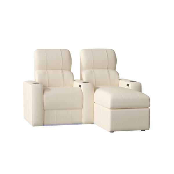 Upholstered Leather Home Theater Row Of 2 By Red Barrel Studio