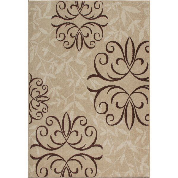 Dubuque Beige/Brown Indoor/Outdoor Area Rug by Darby Home Co