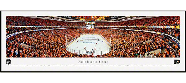 NHL End Zone Standard Framed Photographic Print by Blakeway Worldwide Panoramas, Inc