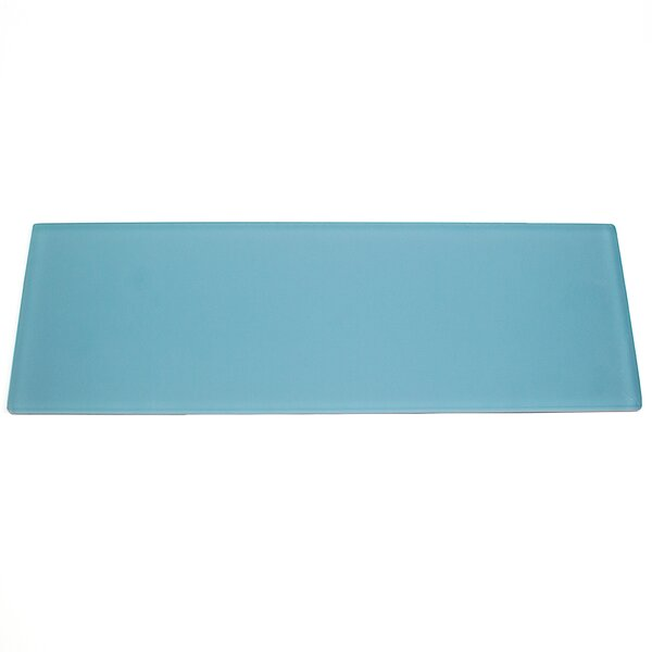 Contempo 4 x 12 Glass Subway Tile in Turquoise by Splashback Tile