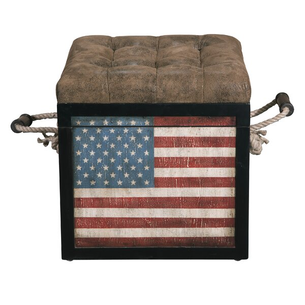 Ayward Old Glory Tufted Storage Ottoman by Williston Forge Williston Forge
