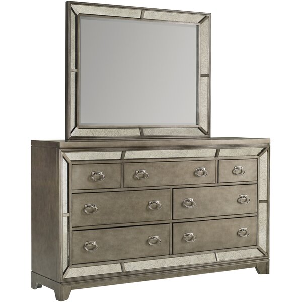 Roxie 7 Drawer Dresser with Mirror by Willa Arlo Interiors