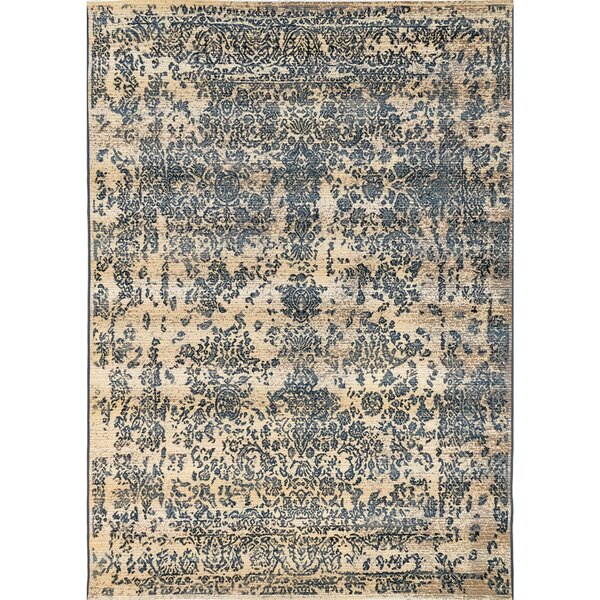 Ronan Tabriz Blue/Ivory Indoor/Outdoor Area Rug by Ophelia & Co.