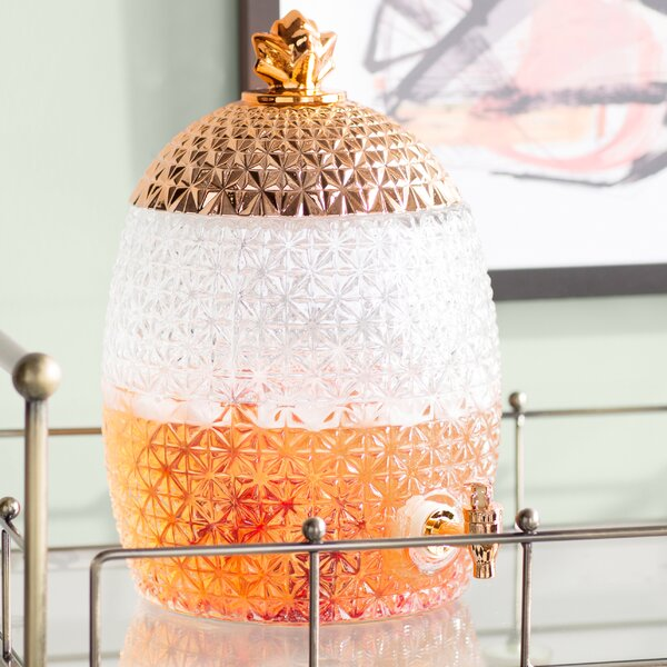 Vallo Pineapple Beverage Dispenser by Mercury Row