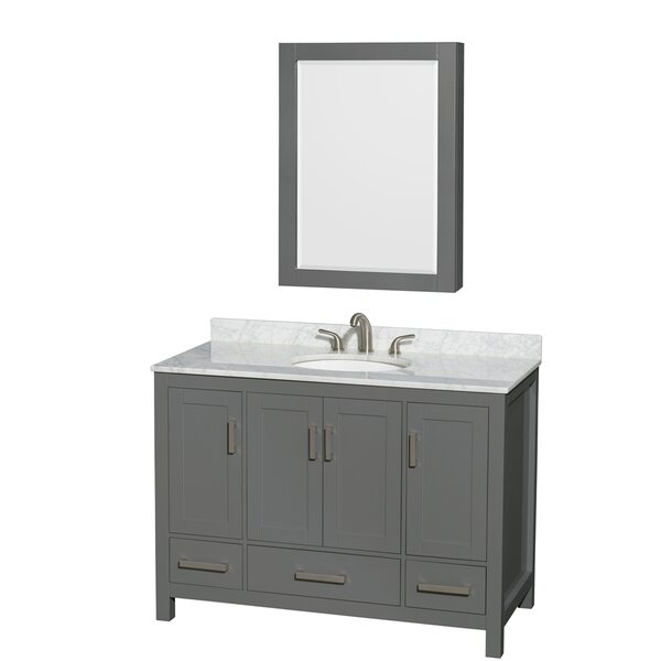 Sheffield 48 Single Bathroom Vanity Set with Medicine Cabinet by Wyndham Collection