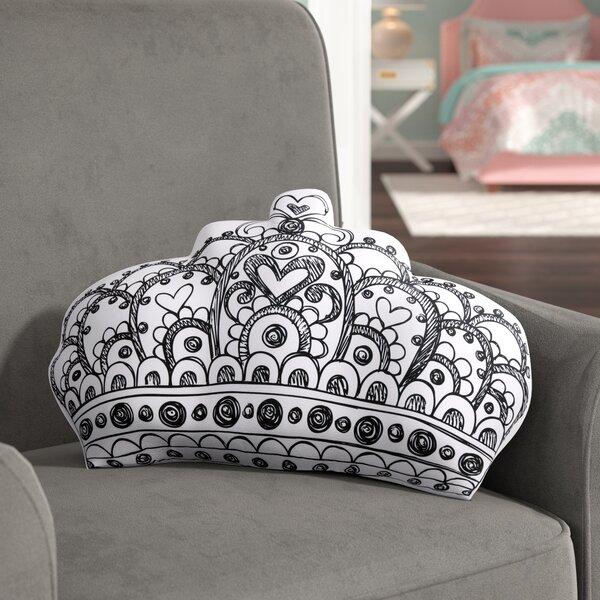 Darin Crown Decorative Throw Pillow by Viv + Rae