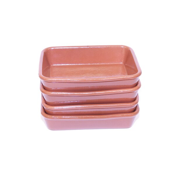 Small Terracotta Oven Tray (Set of 4) by Regas Ceramics