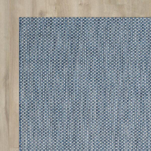 Mullen Navy Bule / Gray Indoor / Outdoor Area Rug by Ebern Designs
