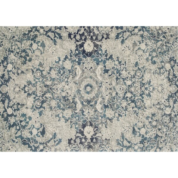 Palmore Ocean/Silver Area Rug by Bungalow Rose
