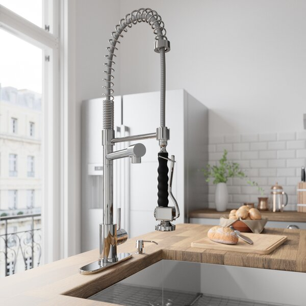 Zurich Pull Down Single Handle Kitchen Faucet by VIGO