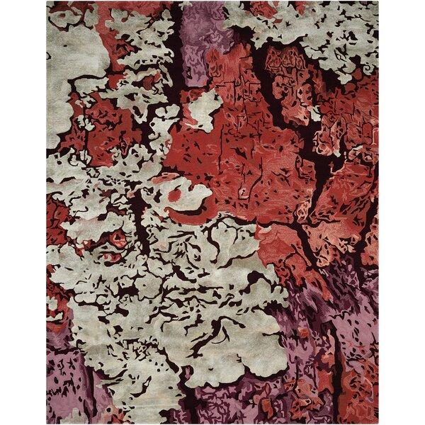 Annan Handmade Red/Purple Area Rug by Latitude Run