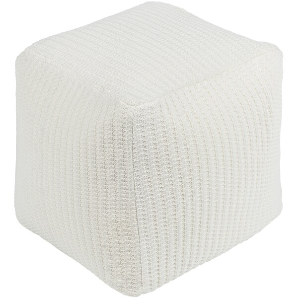 Brandywood Texture Pouf by Rosecliff Heights