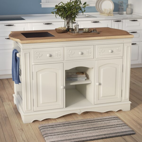 Hofmeister Kitchen Island with Butcher Top by Darby Home Co