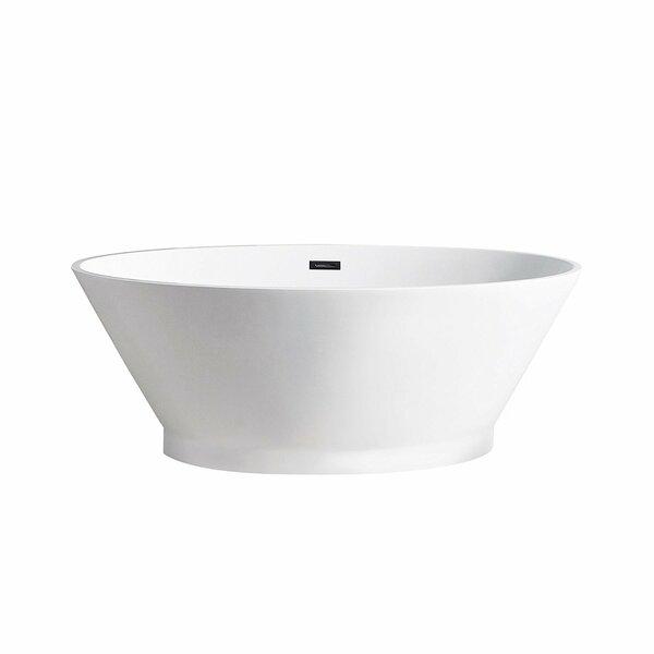 Hazel 67 x 38 Freestanding Soaking Bathtub by Maykke