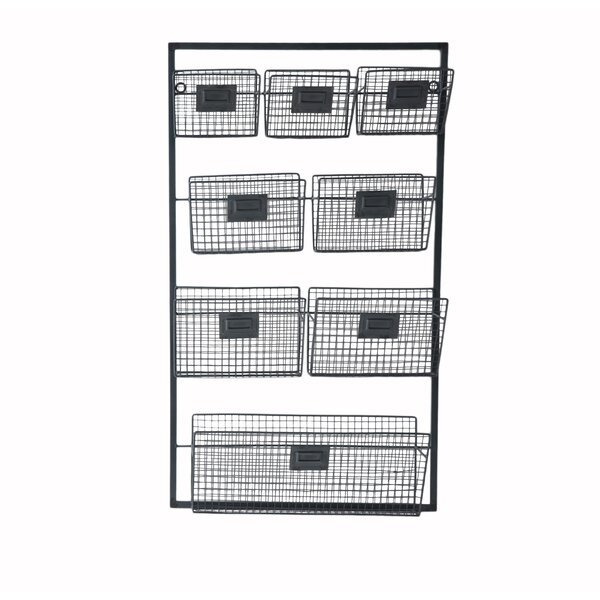 Metal Wall Organizer with 8 Slots by Cheungs