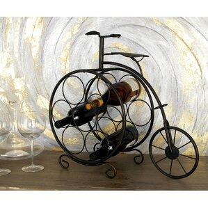 Brasher Vintage Bicyclette 7 Bottle Tabletop Wine Rack by Fleur De Lis Living
