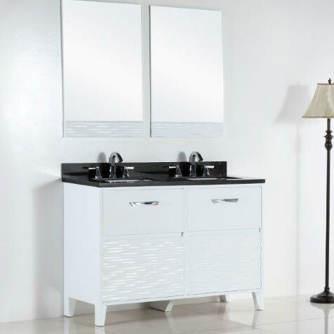 48 Double Sink Bathroom Vanity Set by Bellaterra Home