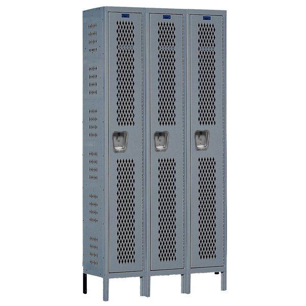Heavy Duty 1 Tier 3 Wide Gym Locker by Hallowell
