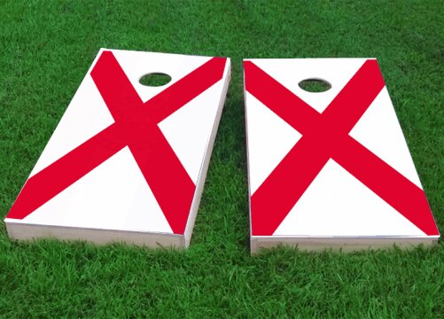 State Flag Cornhole Game (Set of 2) by Custom Cornhole Boards