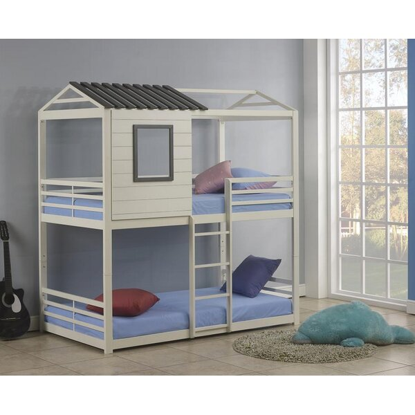 Sharpton House Twin Over Twin Bunk Bed by Harriet Bee