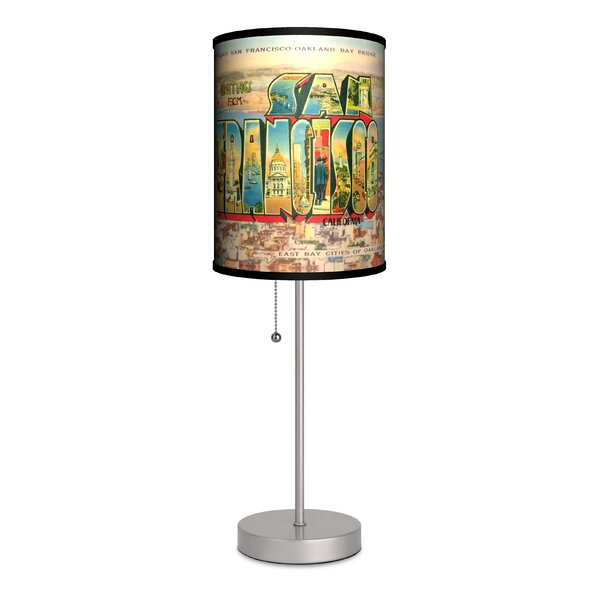 Travel San Francisco Postcard 20 Table Lamp by Lamp-In-A-Box