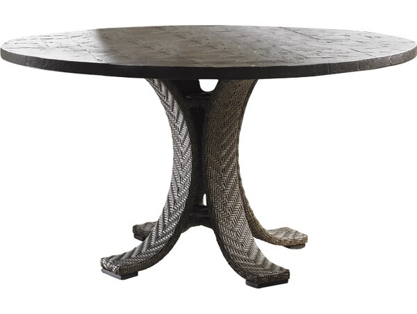 Blue Olive Wicker Rattan Dining Table by Tommy Bahama Outdoor